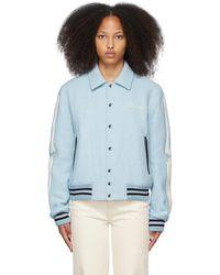 Amiri Blue Bones Varsity Jacket