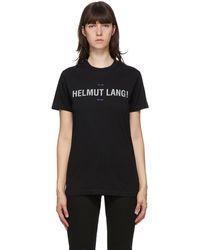 Helmut Lang ブラック リフレクティブ Standard T シャツ