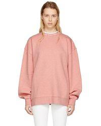 Acne Studios - Ssense Exclusive Pink Yana Sweatshirt - Lyst