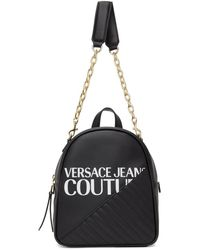 Versace Jeans Couture ブラック チェーン バックパック