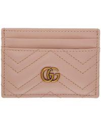 Gucci - ピンク GG マーモント カード ホルダー - Lyst