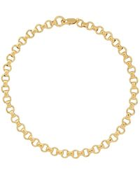Laura Lombardi Gold Franca Chain Necklace - Black