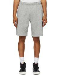 Nike Gray Fleece Sportswear Club Cargo Shorts