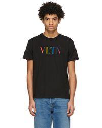 Valentino - ブラック Vltn T シャツ - Lyst