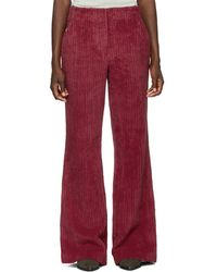 Acne Studios - Pink Thick Corduroy Flared Trousers - Lyst