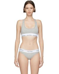Calvin Klein Underwear Modern Cotton Bralette - Gray