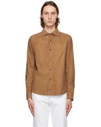 Isaia ブラウン シャツ ジャケット