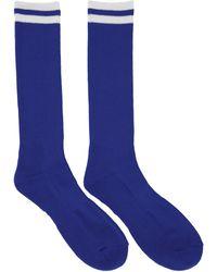 Undercover - Blue Logo Socks - Lyst