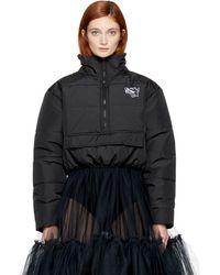 Ashley Williams Black Cropped Misery Puffer Jacket