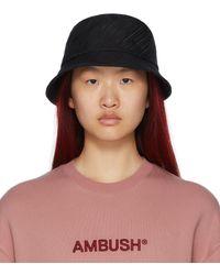 Ambush ブラック ロゴ バケット ハット - マルチカラー