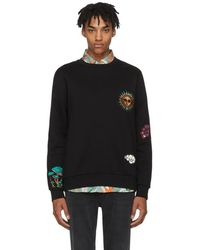 Paul Smith - Black Embroidered 1974 Sweatshirt - Lyst