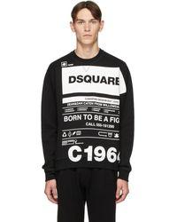 DSquared² Pull molletonne noir Cool Fit Logo Graphic