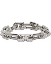 Balenciaga Silver B Chain Link Bracelet - Metallic