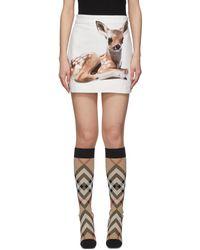 Burberry ホワイト Bambi スカート