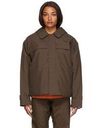 GR10K Flame Split Jacket - Brown