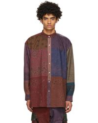 Children of the discordance Multicolor Rogic Edition Bandana Patchwork Shirt - Red