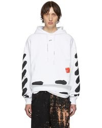 Off-White c/o Virgil Abloh - Ssense Exclusive White Incomplete Spray Paint Hoodie - Lyst