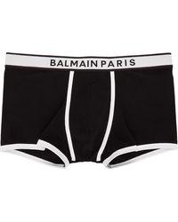 Balmain ブラック & ホワイト ロゴ ボクサー