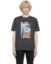 FRAME グレー La Vie T シャツ
