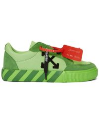 Off-White c/o Virgil Abloh - Ssense Exclusive Green Low Vulcanized Sneakers - Lyst