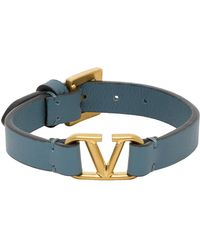 Valentino - Garavani コレクション ブルー Vロゴ ブレスレット - Lyst