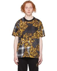 Versace Jeans Couture - ブラック タータン Baroque プリント T シャツ - Lyst