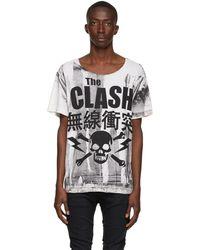 R13 オフホワイト The Clash Rosie T シャツ