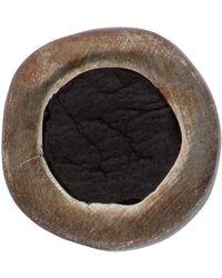 Guidi Silver Leather Inset Single Earring - Multicolour