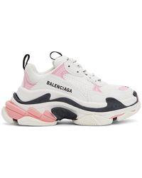 Balenciaga ピンク Triple S スニーカー