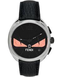 Fendi ブラック & ピンク Momento Bugs クロノグラフ 腕時計