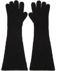 Totême カシミア グローブ - ブラック