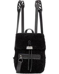 Off-White c/o Virgil Abloh - Black Sherpa Monotone Backpack - Lyst