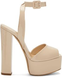 Giuseppe Zanotti | Ssense Exclusive Pink Patent Lavinia Platform Sandals | Lyst