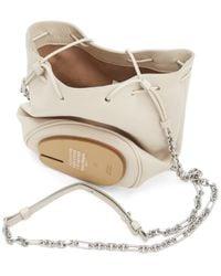Maison Margiela Off-white Glossy Tabi Bucket Bag