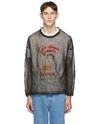 Our Legacy ブラック Teflon ポップオーバー セーター