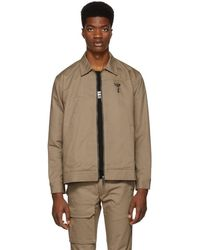 Reese Cooper Khaki Patches Work Jacket - Natural