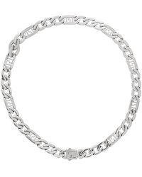 Fendi Silver 'forever ' Chain Necklace - Metallic