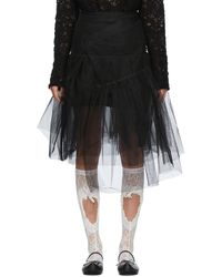 ShuShu/Tong - Ssense Exclusive Black Two-layer Skirt - Lyst