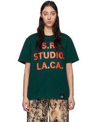 S.R. STUDIO. LA. CA. - グリーン & オレンジ Vampire Sunrise T シャツ - Lyst