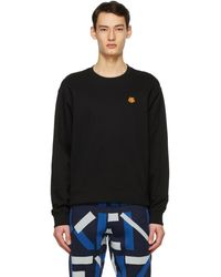 KENZO - ブラック Tiger Crest スウェットシャツ - Lyst