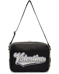 Valentino - Black Garavani Varsity Messenger Bag - Lyst