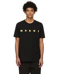 Marni ブラック ロゴ T シャツ