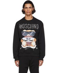 Moschino ブラック ロゴ スウェットシャツ