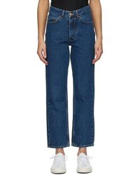 Won Hundred Navy Pearl Jeans - Blue