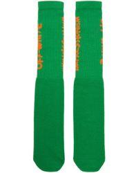 Off-White c/o Virgil Abloh - Green And Orange Bubble Font Socks - Lyst