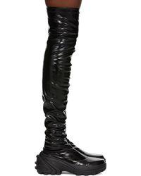 1017 ALYX 9SM ブラック Skx ソール サイハイ ブーツ
