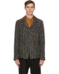 BED j.w. FORD Multicolor Lace Raschel Jacket - Black