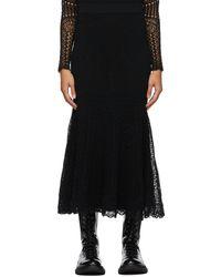 Alexander McQueen ブラック Patchwork スカート