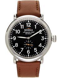 Shinola シルバー & グレー The Runwell 47mm 腕時計 - メタリック