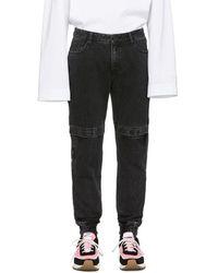 Juun.J - Black Distressed Jeans - Lyst